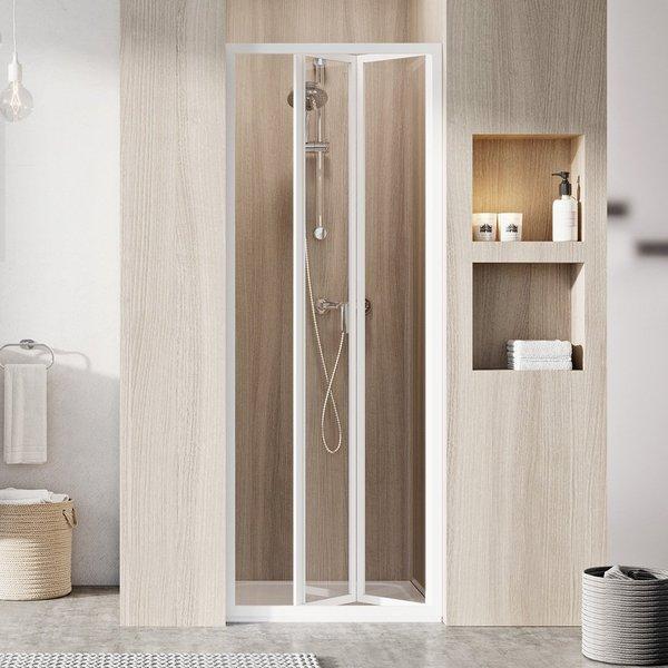 SDZ2-70 195 (Transparent) White Душевая дверь