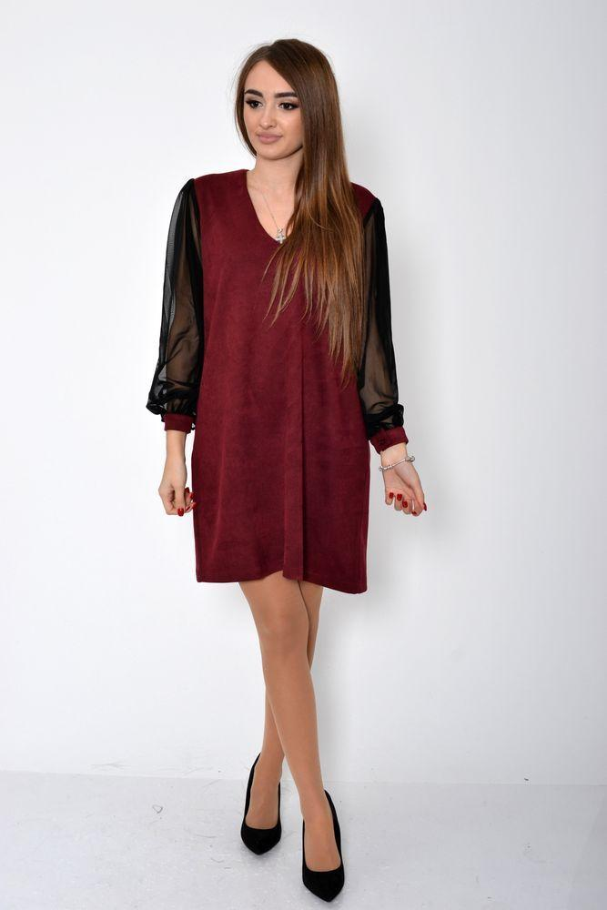 Сукня жіноча 115R355C колір Бордовий