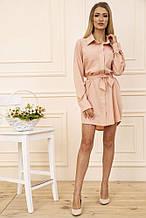 Платье-рубашка 102R043-1 цвет Персиковый