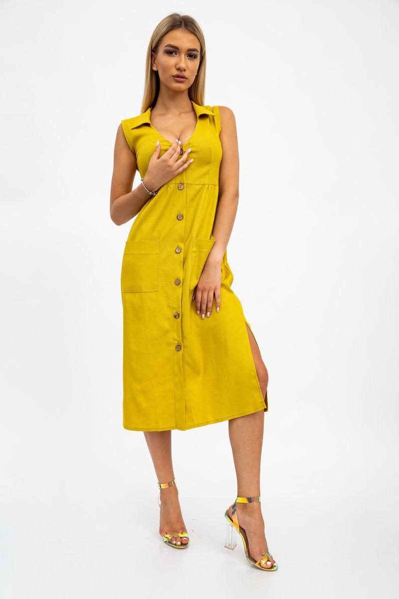 Платье женское 112R491 цвет Горчичный