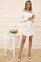 Платье-рубашка 102R043-1 цвет Молочный