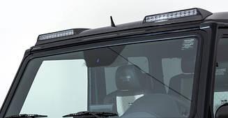 Козырек Brabus над лобовым стеклом на крышу Mercedes G-class W463 (стиль 2017, стекловолокно)