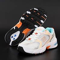 Женские кроссовки New Balance 530 White Multicolor | Нью Беланс 530 Белые