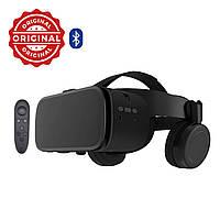 Оригинальные! Очки виртуальной реальности черный Bobo 3D VR Z6 с Наушниками и Пультом ДУ Bluetooth 110°