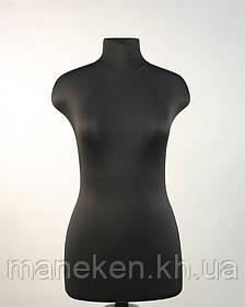 """Манекен выставочный TREMVERY """"Марина (44) в ткани"""" черный с креплением  к подставке"""