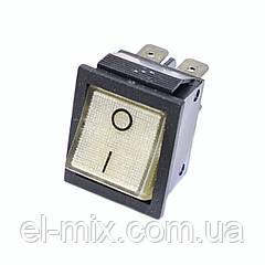 Выключатель RS-201 без подсветки, клавиша прозрачно-белая, 2-группы 4 контакта ON-OFF / кратно 10шт