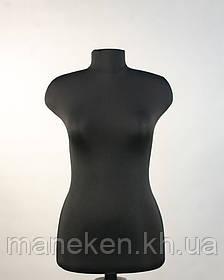 """Манекен выставочный TREMVERY """"Марина (46) в ткани"""" черный с креплением  к подставке"""