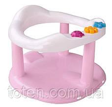 Детское сиденье для купания на присосках Стульчик для купания 6067 . Розовое