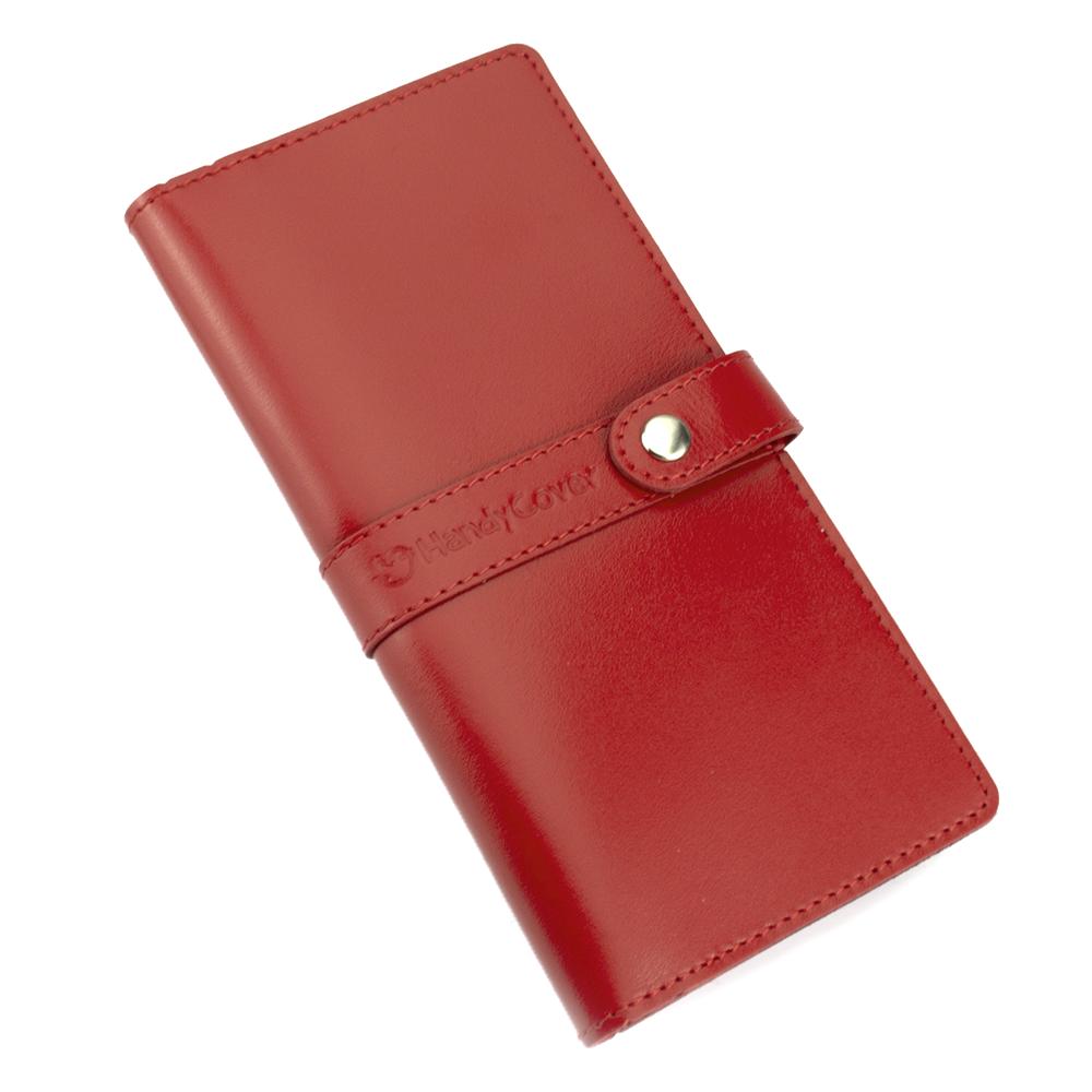 Кошелек женский кожаный большой Handycover HC0078 красный