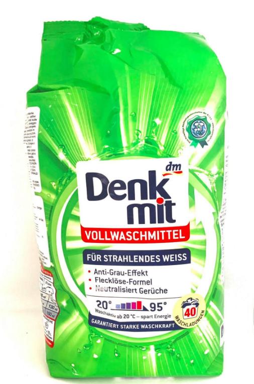 Пральний порошок для білої білизни Денк міт Denkmit DM 2,7 кг