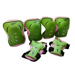 Защита детская наколенники, налокотники, перчатки 8503, размер S (4-7 лет) зеленый