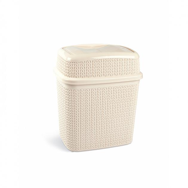 Бак для мусора Ucsan Plastik M-132-Cream 7 л кремовый