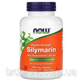 Now Foods, Силимарин, экстракт расторопши, 300 мг, 200 растительных капсул