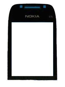 Корпусное стекло дисплея Nokia E75 Black