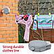 Сушилка для белья Tatkraft Artmoon Long уличная настенная выдвижная 12м серая (699799), фото 3