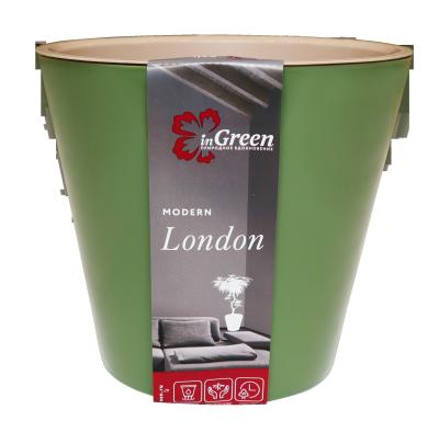 Горшок для цветов London 330 мм, 16л на колесиках Оливковый