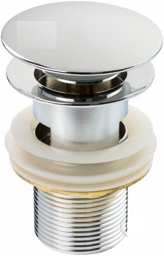 Донний клапан для умивальника латунний корпус з переливом