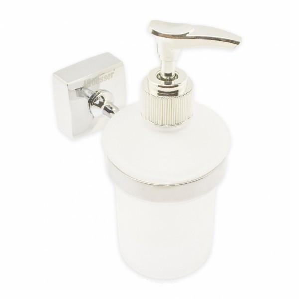 Дозатор для мыла стеклянный,крепление из нержавеющей стали (a8812)