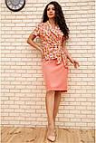 Костюм жіночий офісний спідниця, блузка (білий, р. 54,56), фото 2