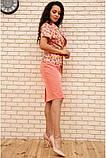 Костюм жіночий офісний спідниця, блузка (білий, р. 54,56), фото 3
