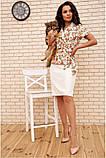 Костюм жіночий офісний спідниця, блузка (білий, р. 54,56), фото 5