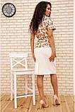 Костюм жіночий офісний спідниця, блузка (білий, р. 54,56), фото 7