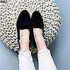 Лоферы женские замшевые черные, фото 3