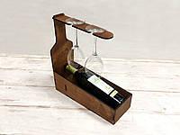 Коробка для подачи вина и бокалов 6мм с гравировкой 320х120x350мм
