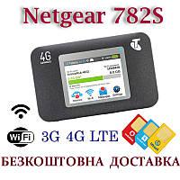 Netgear 782S карманный мобильный 4G/3G/LTE WiFi Роутер Киевстар, Водафон, Лайф с 2 выходами под антенну