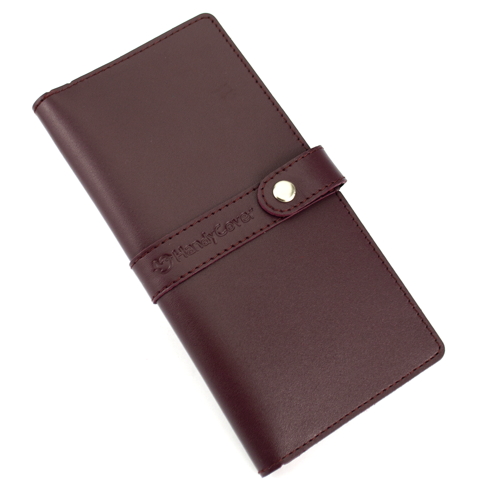 Кошелек женский кожаный большой Handycover HC0078 бордовый