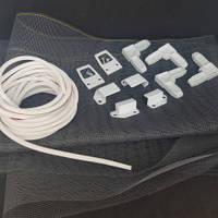 Набор для ремонта наружной москитной сетки высотой до 1.6 м (белый)