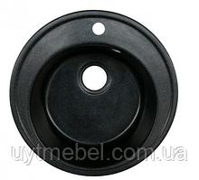 Мийка Yara 510 граніт глянець чорний+сифон (Platinum)
