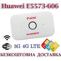 Мобильный модем 3G 4G WiFi Роутер Huawei E5573-606 Киевстар, Vodafone, Lifecell с 2 выходами под антенну MIMO