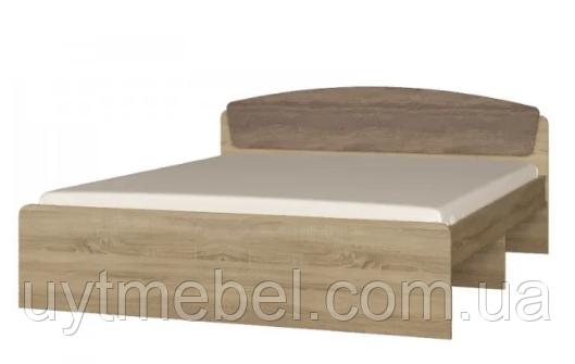 Ліжко Асторія 1600х2000 без шухляд дуб крафт білий (Сучасні меблі)