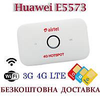 Мобильный модем 3G 4G WiFi Роутер Huawei E5573 Киевстар, Vodafone, Lifecell с 2 выходами под антенну MIMO