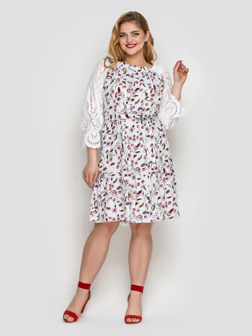 Летнее платье Матильда белое
