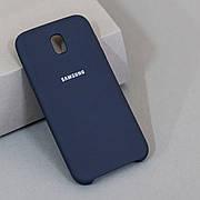 Силіконовий чохол Silicone Case на Samsung J5 J530 2017 Soft-touch Dark Blue