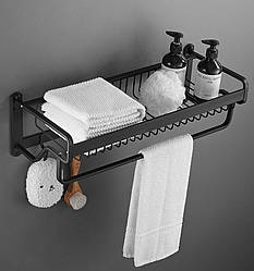 Полиця-вішалка для ванної кімнати. Модель RD-0460