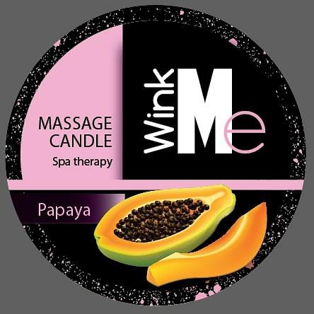 Wink me Massage Candle Papaya (Папайа) 30 мл