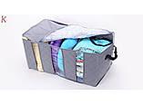 Органайзер - кофр для одежды бамбук на 3 секции, фото 5