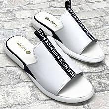 Balenciaga! Стильные женские кожаные белые шлепанцы, шлепки, сабо
