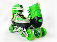 Дитячі ролики для початківців з захистом розмір 29-33 LikeStar зелений колір, фото 3