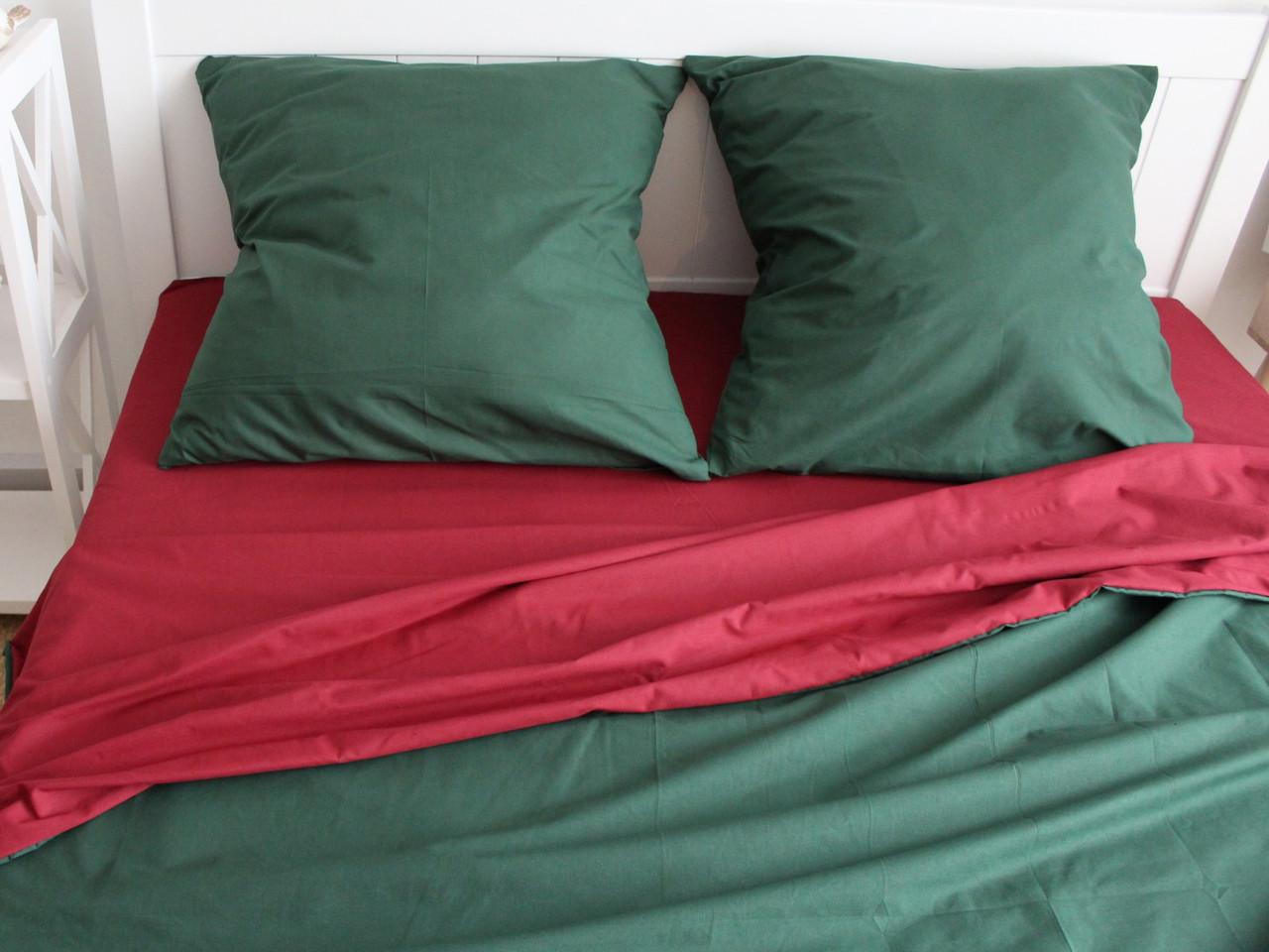 Двуспальный комплект постельного белья евро 200*220 ранфорс  (17149) TM KRISPOL Украина