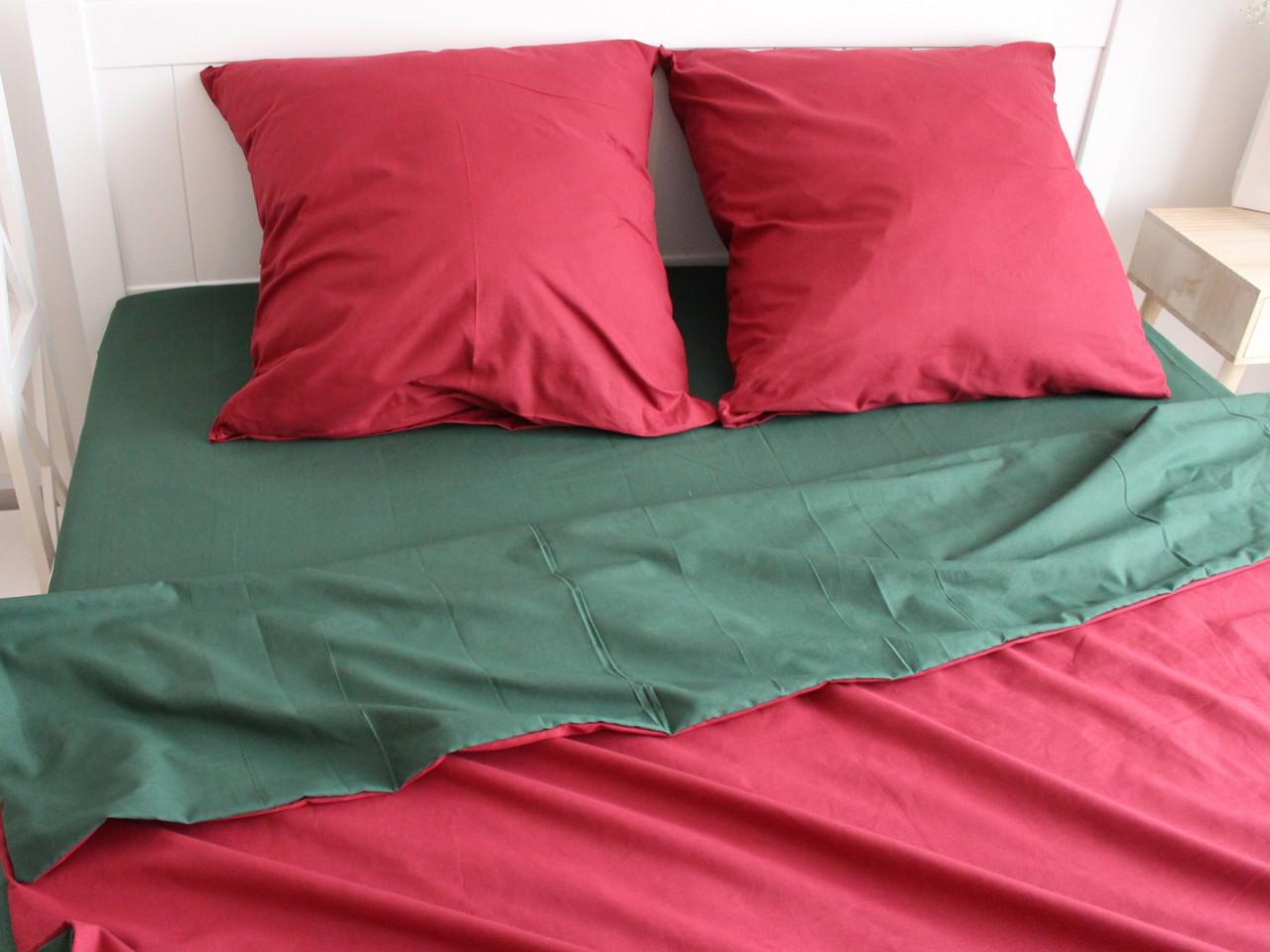 Двуспальный комплект постельного белья евро 200*220 ранфорс  (17150) TM KRISPOL Украина