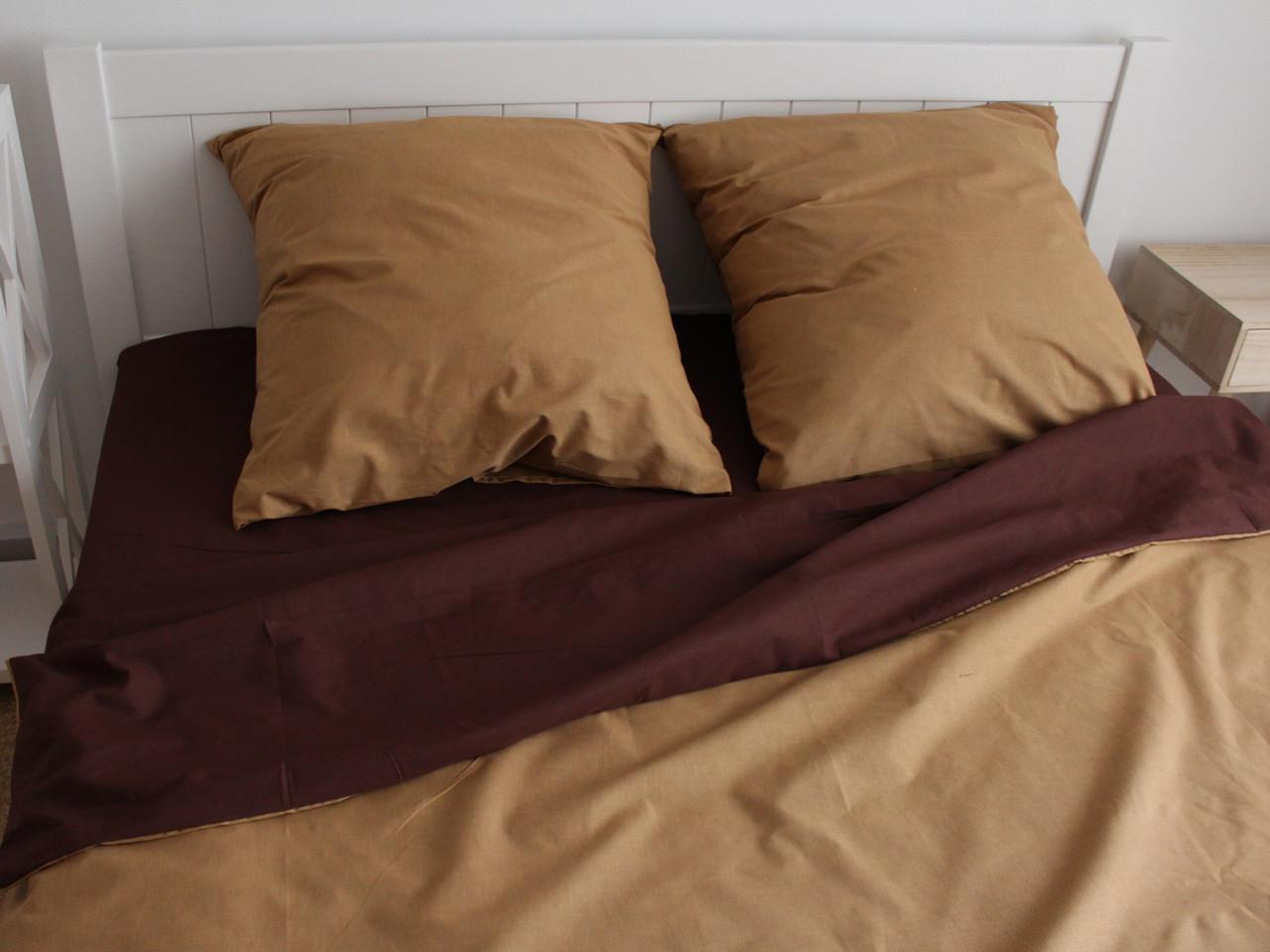 Двуспальный комплект постельного белья евро 200*220 ранфорс  (17151) TM KRISPOL Украина
