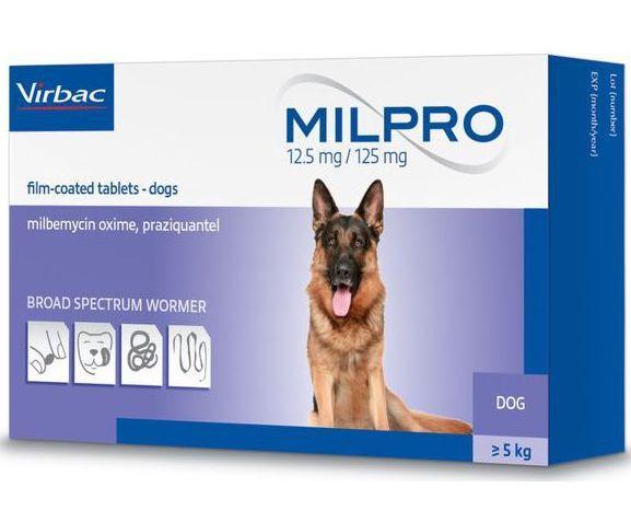 МИЛПРО MILPRO таблетки від глистів для собак вагою більше 5 кг-4 пігулки