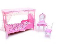 """Набор кукольной мебели для барби Gloria 2614 """"Спальня"""""""
