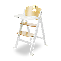Складной стульчик для кормления Lionelo FLORIS WHITE до 40 кг, 4-ступенчатая регулировка высоты
