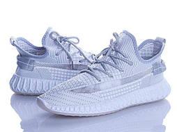 Мужские серые кроссовки Изики мокасины в сеточку (Замеры в описании)