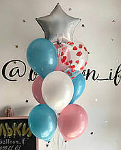 Кульки в голубих і рожевих відтінках